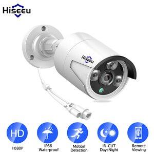 Hiseeu 1080P POE IP Camera 2.0MP Waterproof IP66 indoor Outdoor home security video surveillance ONVIF Bullet H.265 CCTV Camera