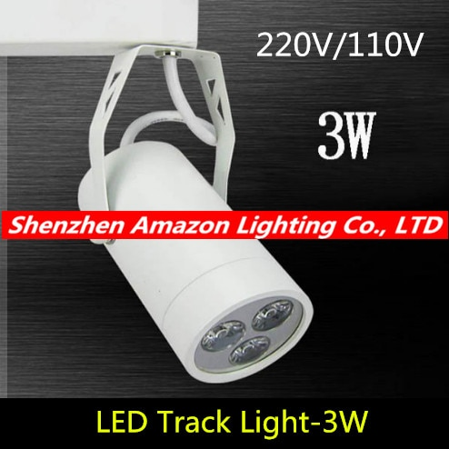 3 W זרקור אור מסלול led מנורת עסקים בוטיק חנות/חנות בגדים/שלב תאורת מסלול שחור/לבן