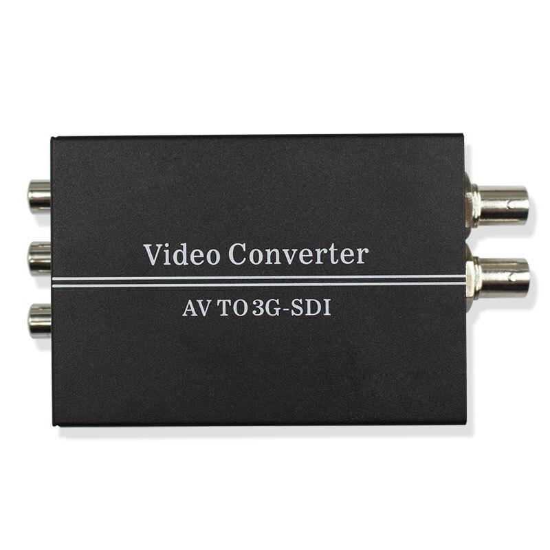 Convertisseur SDI AV vers Full HD 1080 p 3G R/L RCA CVBS vers 3G/HD-SDI convertisseur adaptateur pour caméra HDTV CRT