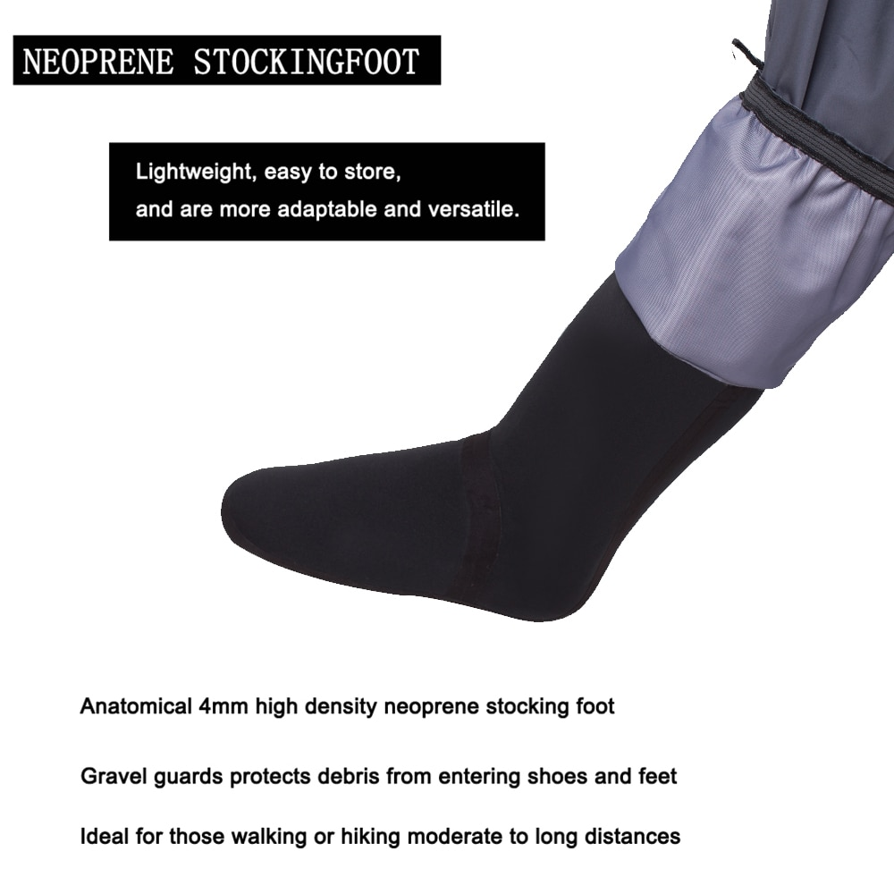 5-Layer Durable Breathable Waterproof Stocking Foot Fly Fishing Chest Waders Pants for Men and Women enlarge