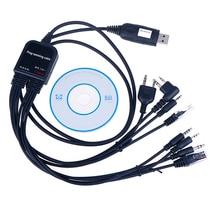8 in 1 Computer USB Programming Cable for kenwood For baofeng motorola yaesu for icom Handy walkie talkie car radio CD Software