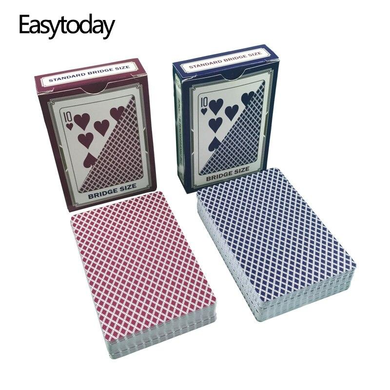 Easytoday 10 pçs/set Baccarat Texas Holdem Cartas de Baralho de Plástico Conjunto de Jogos À Prova D Água Geada Cartão de Ponte Placa de Poker Do Cartão Do Póquer