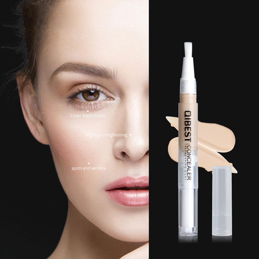 QiBest Face Makeup Concealer Pen Multi Effect Full Coverage Repairing Stick Brighten Skin Nude Makeup Concealer Blemish pen