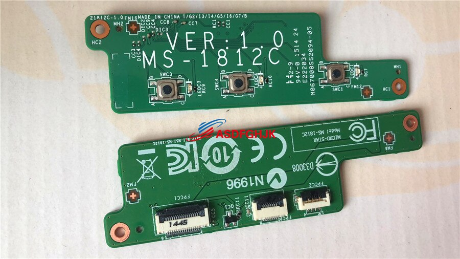 Original PARA MSI GT80 MS-1812C VERSAO 1.0 PLACA DE POTÊNCIA MS-18121 totalmente testado