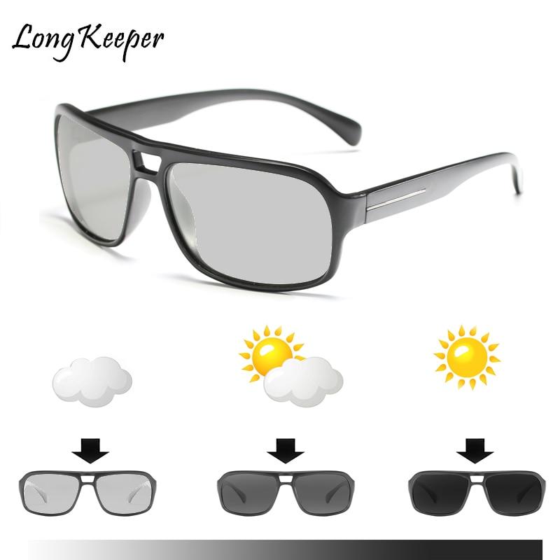Gafas de sol largas polarizadas fotocromáticas para hombre y mujer, lentes de...