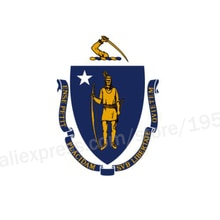 Massachusetts Flag 3 x 5 FT 90 x 150 cm USA States Flags Banners