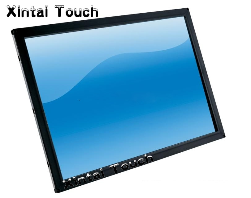 تراكب لوحة اللمس 55 بوصة ، 4 نقاط تعمل باللمس إطار شاشة اللمس المتعدد للترفيه