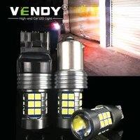 vendy 1pcs car led reverse lights auto canbus no error backup lamp bulb 12v w16w 921 t15 w21w 7440 t20 p21w ba15s 1156 3156 p27w
