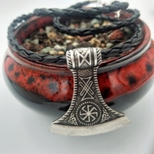 Dropshipping Pagan Perun Axe Rune Viking Slavic Star Rus Amulet Ancient Kolovrat Charm Nordic Jewelry Talisman Pendants Necklace