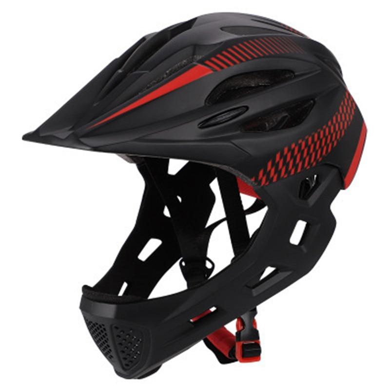 Ftiier chico LED montaña Mtb Casco de bicicleta de carretera desmontable Pro protección niños bicicleta de cara completa Ciclismo casco