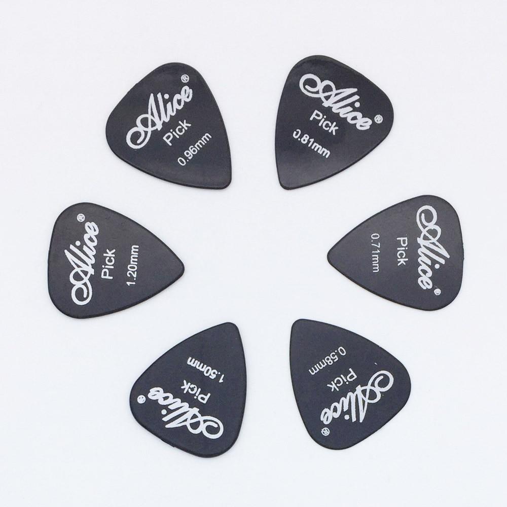 6 piezas púas de guitarra Alice en 1 Color de espesor completo...