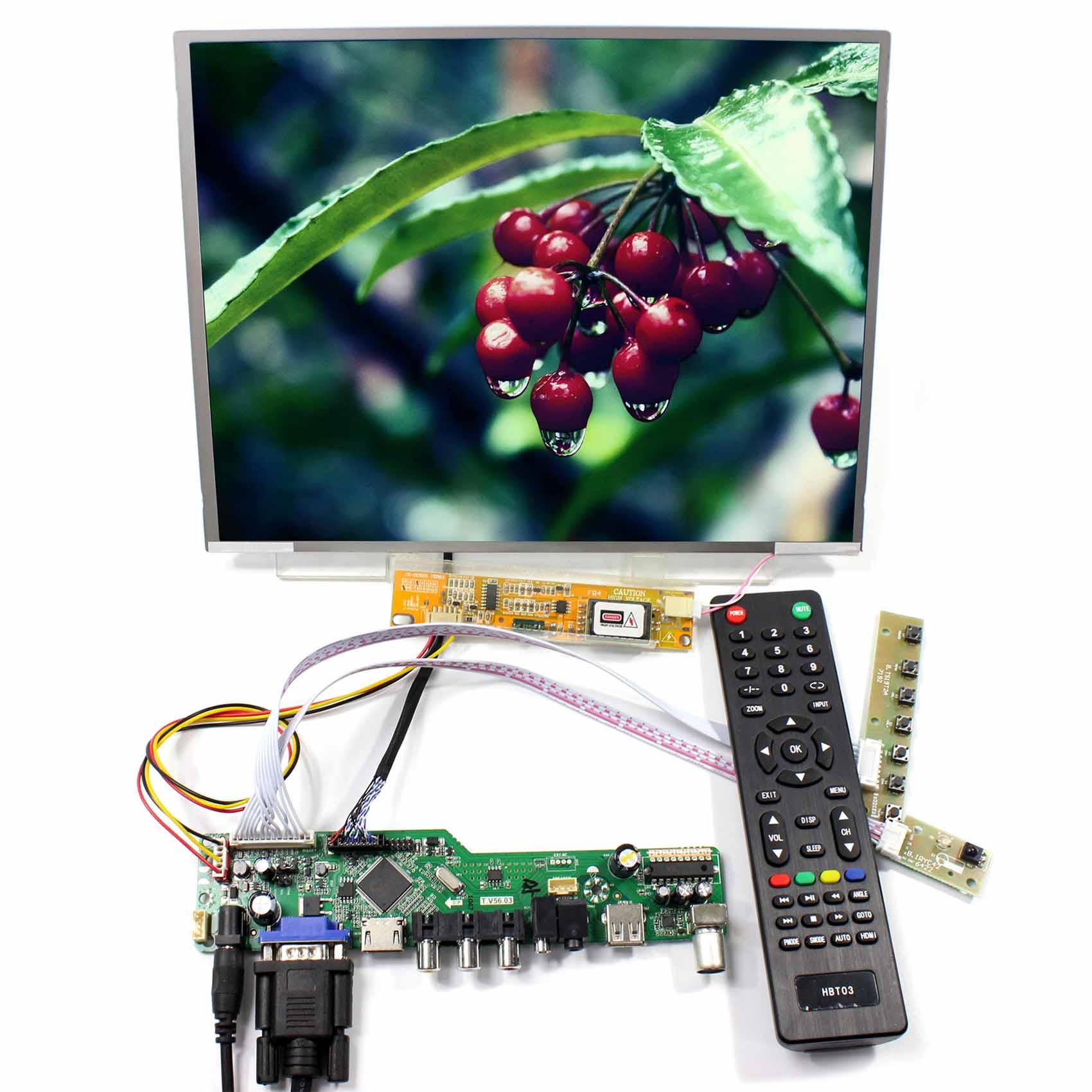 TV HDMI VGA AV USB AUDIO LCD Cotntrol Board 12.1inch LTN121X01 1024x768 LCD
