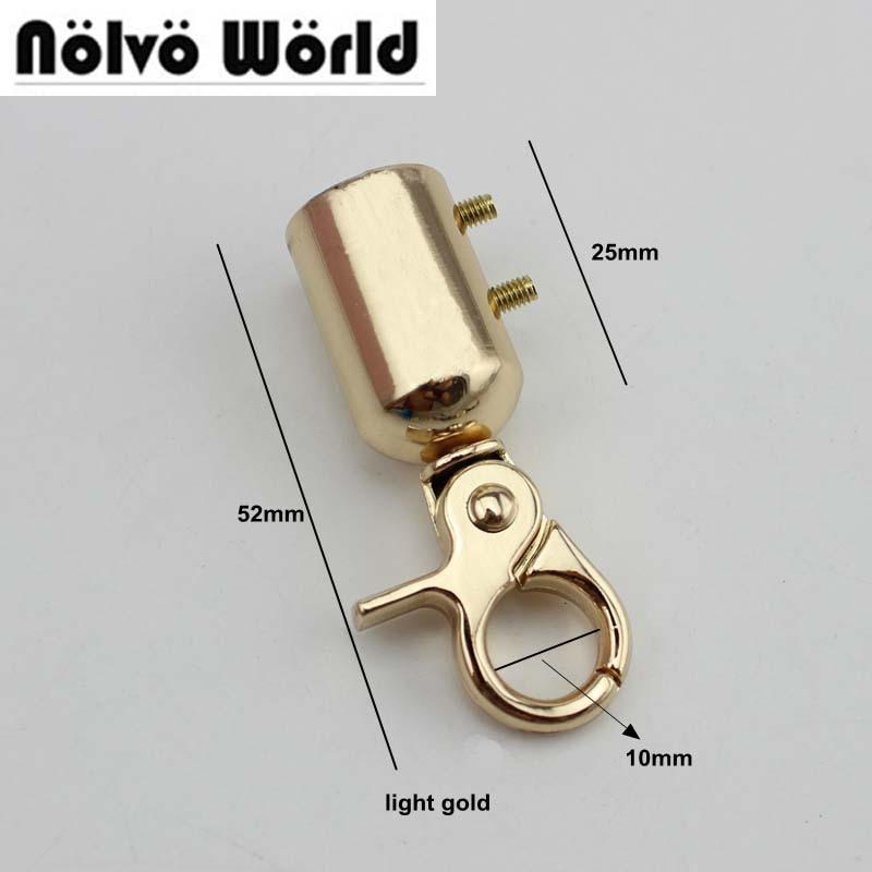 20 piezas 52*16mm 3 colores metal dorado plateado herraje bolso de mano/borla de la bolsa cierre gancho conector de tornillo percha de la bolsa
