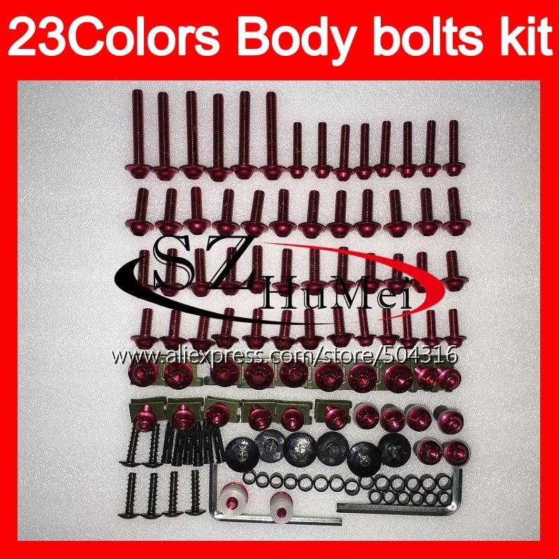 Tornillos del carenado kit completo de tornillos para BMW S1000R S1000RR 09 10 11 12 13 14 S1000 RR 2009, 2010, 2011, 2014 parabrisas perno tornillos tuercas