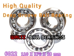 110mm Abertura Alta Qualidade Deep Groove Ball Bearing 6022 110x170x28 ABERTO Rolamento de Esferas