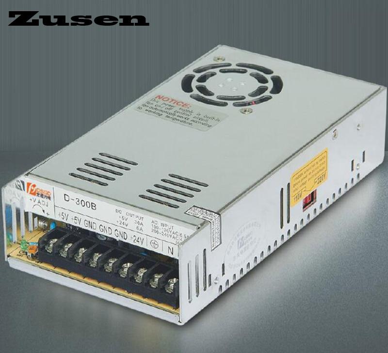 Zusen D300W-A Duplo Interruptor de saída da fonte de alimentação ajustável 300 w 110 V/220VAC para 5 ~ 12VDC