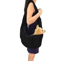 black top quality cotton sling pet dog cat puppy carrier bag single shoulder pet bag slings dog carrier medium size