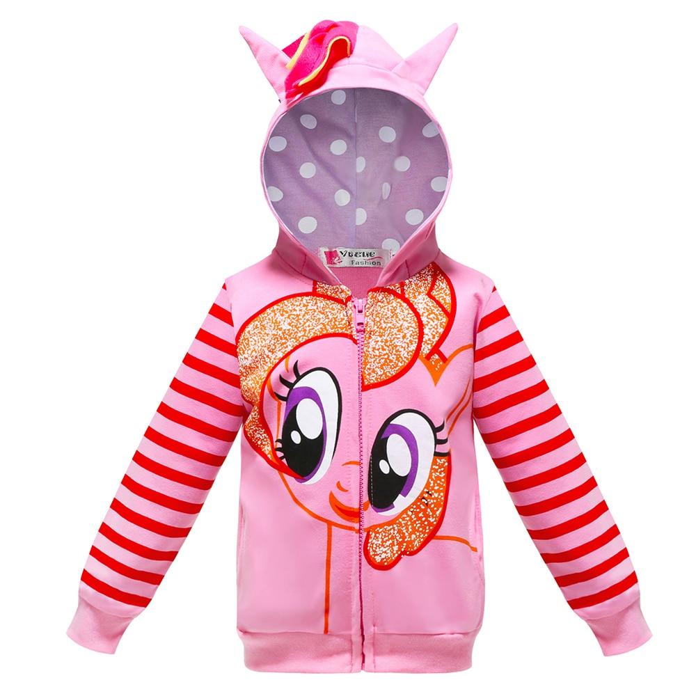 New My Little Poli Kids Girls Rainbow Dash jacket Pony Christmas Party Coat Children baby Boys hooded jacket childrens jacket