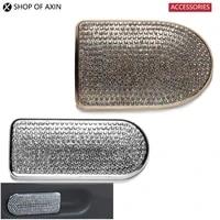automotive interior passenger storage box handle crystal decorate zinc alloy cover for mini cooper countryman f54 f60 f55 f56