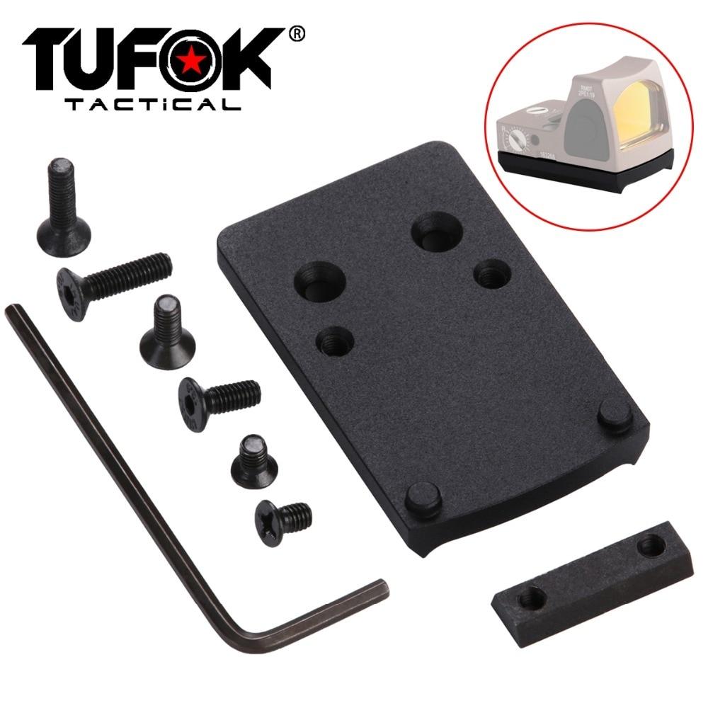 TuFok Glock monture de visée Mini RMR point rouge monture de visée pour Glock 17 Glock 19 Glock 22 26 27 34