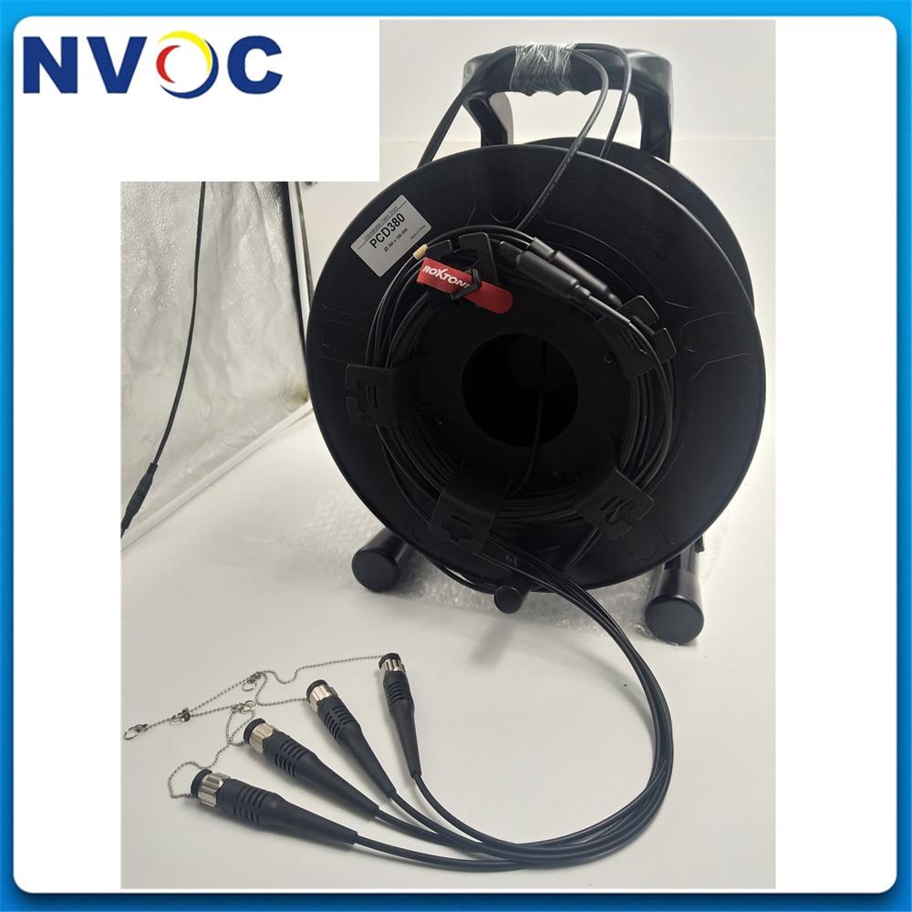 Cable de fibra blindado ODC macho de 8 núcleos, 100/125/150/200/250 M SM G657A1 8C ODC + 4 Uds. ODC-LC puente de fibra de 1M para pantalla LED