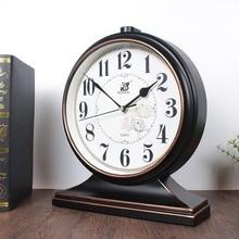 Horloge de Table en plastique 12 pouces   Classique rétro silencieuse, horloge de Table, Quart de bureau, Art créatif décoration de maison, facile à lire, piles
