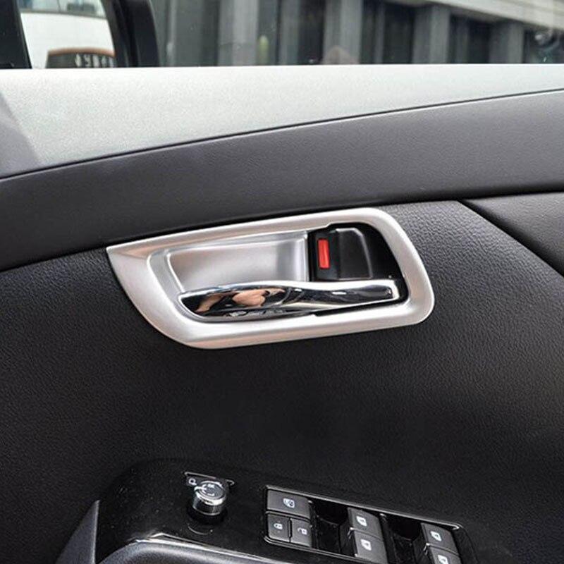 Para Toyota Alphard 2016 2017 2018 ABS mate para puerta interior de coche protector de cuencos moldura de cubierta de Marco estilo de coche accesorios de coche 2 uds