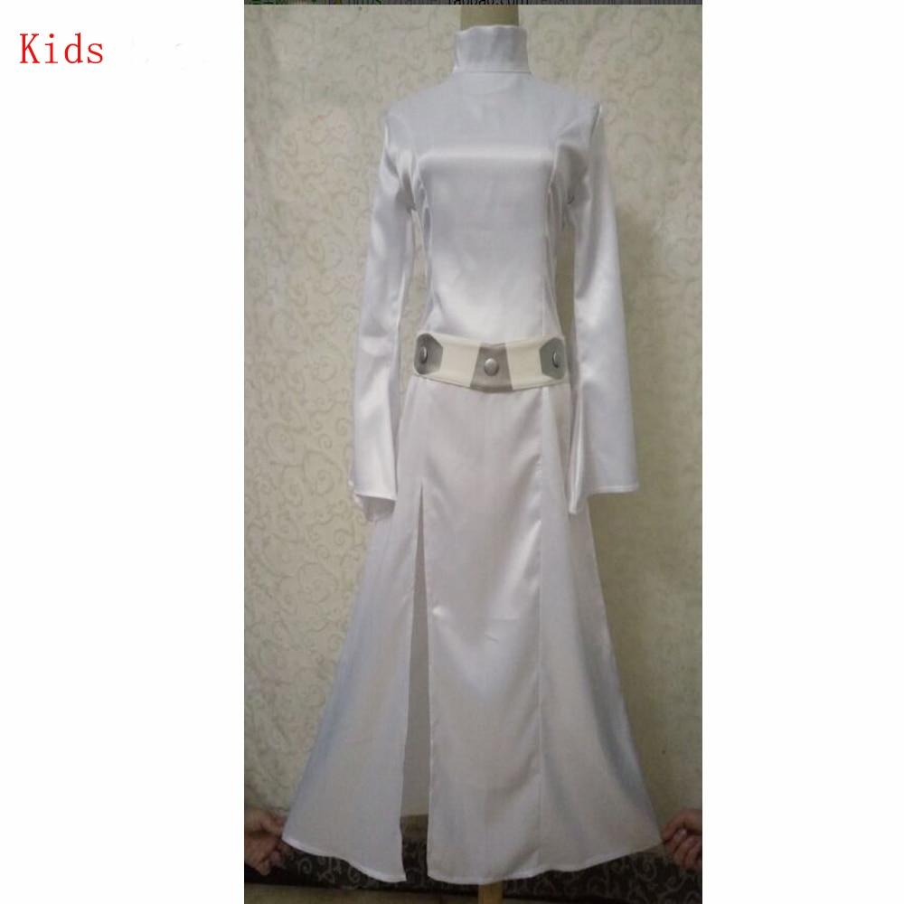 STAR WARS Alderaan Princess Leia Organa Solo Jurk Riem Kostuum meisjes Cosplay Dunne Jurken Halloween Cosplay Kostuum voor kids