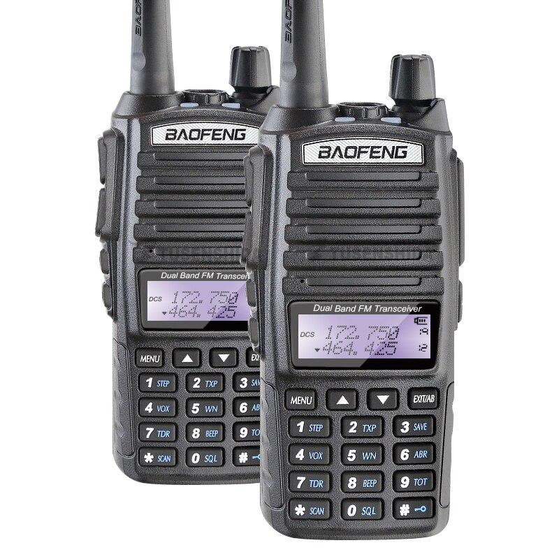 2PCS/LOT 5 Watts Dual Display LED Flashlight Dual Band VHF UHF Baofeng UV-82