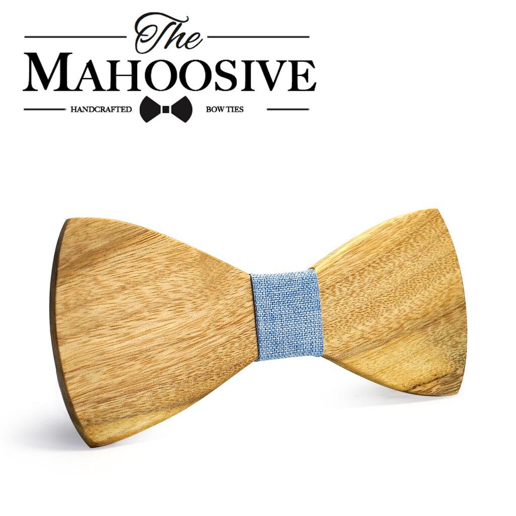 Corbatas MAHOOSIVE clásicas de 100% de madera maciza para hombre, corbatas de cuello de nuevo diseño para hombre, corbatas formales de negocios para boda o fiesta