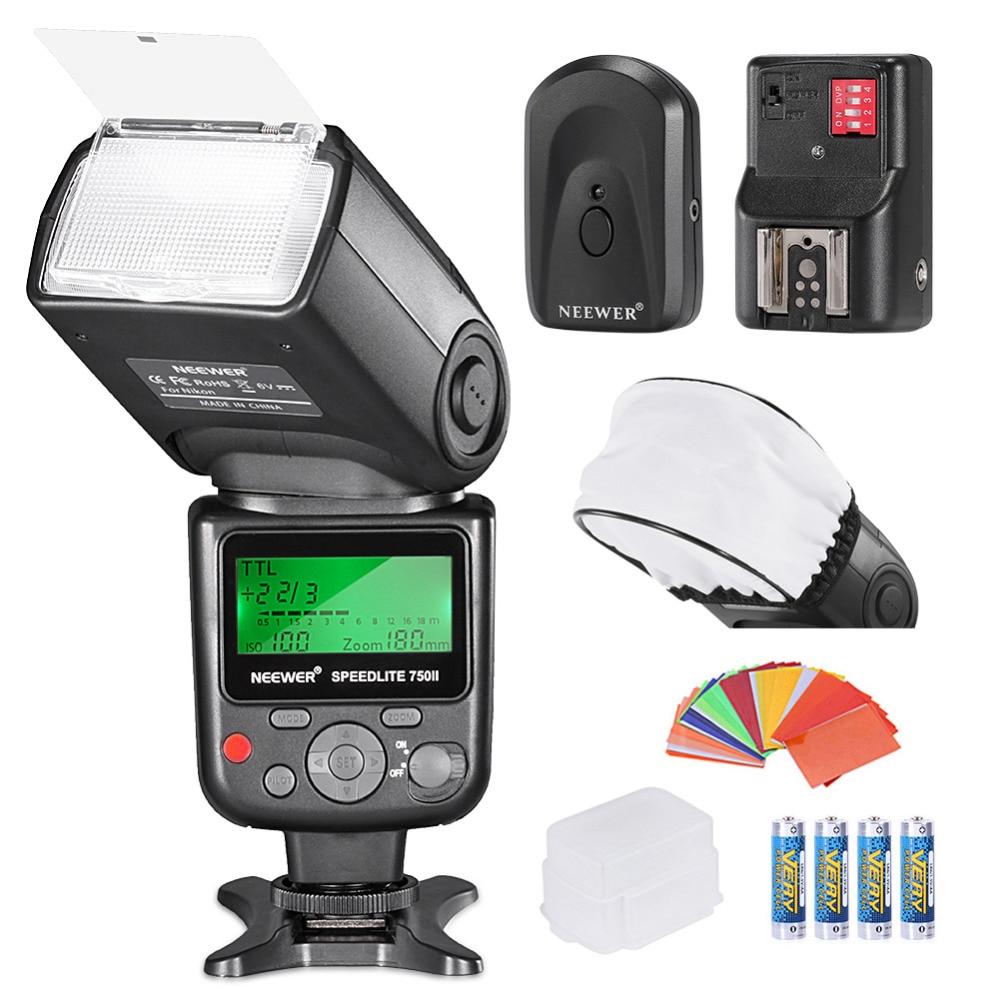 Neewer PRO i-Flash TTL * Deluxe * Kit para NIKON DSLR D7100 D7000 D5300 D5200 D5100 D5000 D3200 D3100 D3300 D90 D800 D700 D300 D300