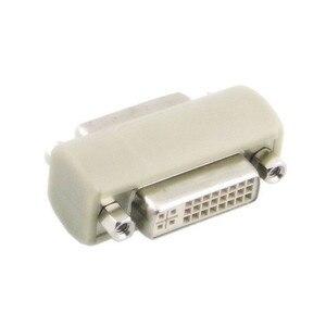 Cablecc DVI 24 5 hembra a DVI 24 5 hembra adaptador/convertidor de vídeo acoplador 180D recto
