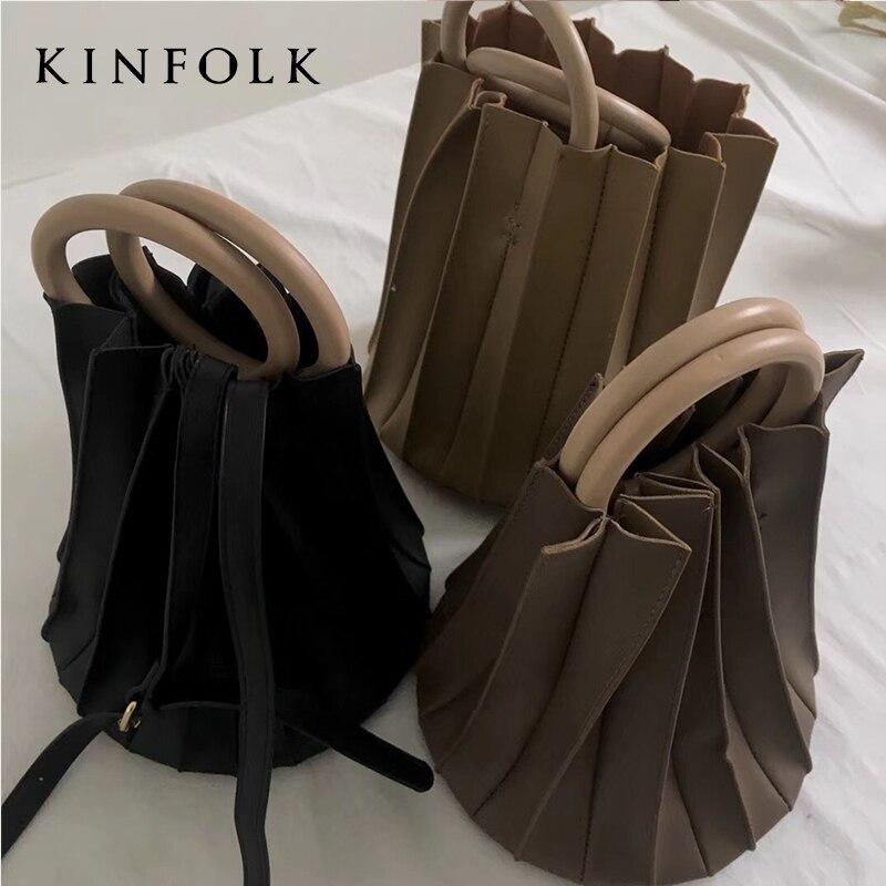 Miyake-حقيبة قماش مطوية ، حقيبة كتف غير رسمية ، لون عادي ، الأكثر مبيعًا