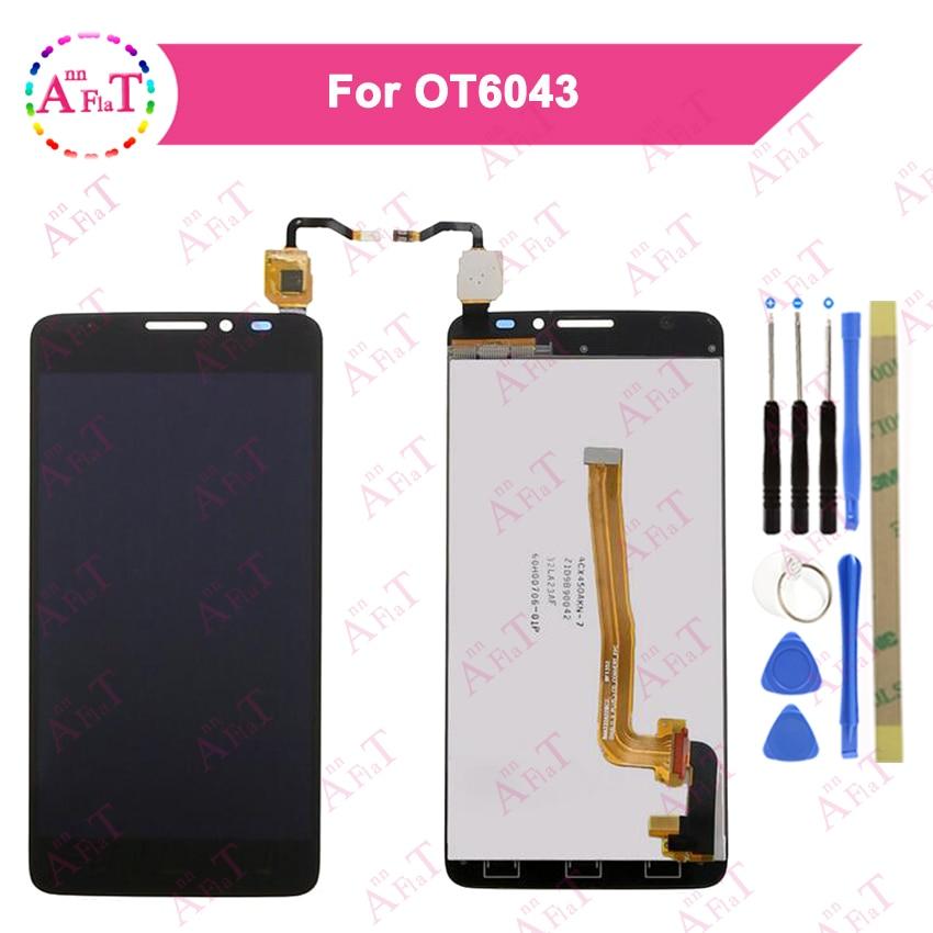 LCD para Alcatel One Touch Idol X + OT6043 6043 6043D pantalla LCD + MONTAJE DE digitalizador con pantalla táctil negro blanco herramienta gratuita
