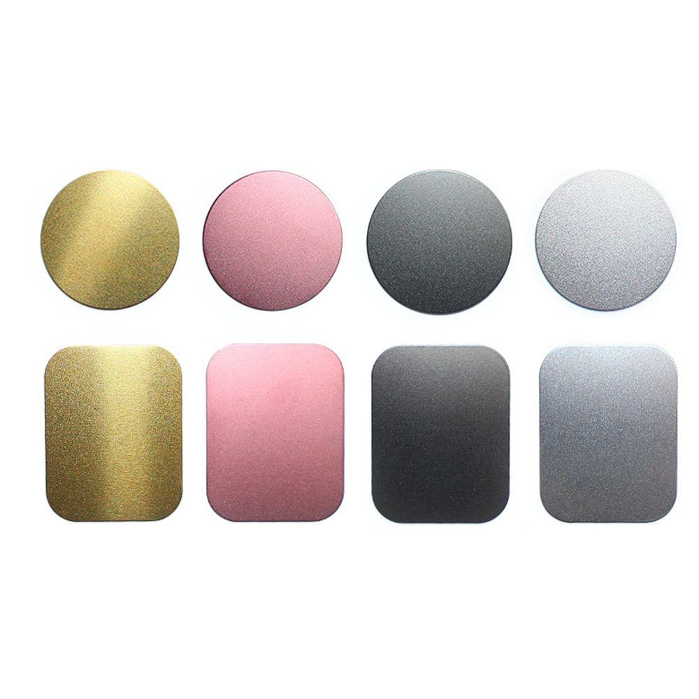 SEKINNEW disco de placa de Metal de dibujo para soporte de teléfono para coche con imán hoja de hierro pegatina soporte magnético para teléfono móvil soporte de coche