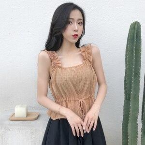 J42265 летняя женская модная рубашка Nice BB с оборками