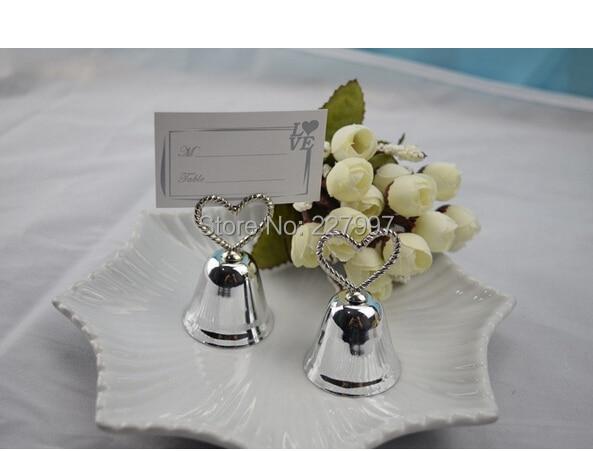 """""""Kissing Bell"""" Place Card/Foto Titular Coração Sino Place Card Titular + 100 pçs/lote + Festa de Casamento decoração Favores"""