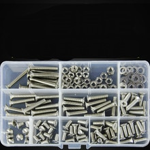 150 Stks/set M5 DIN965 ISO7046 JISB1111F GB819 304 Rvs Machine Schroeven Platte Kop KM Schroef Kit