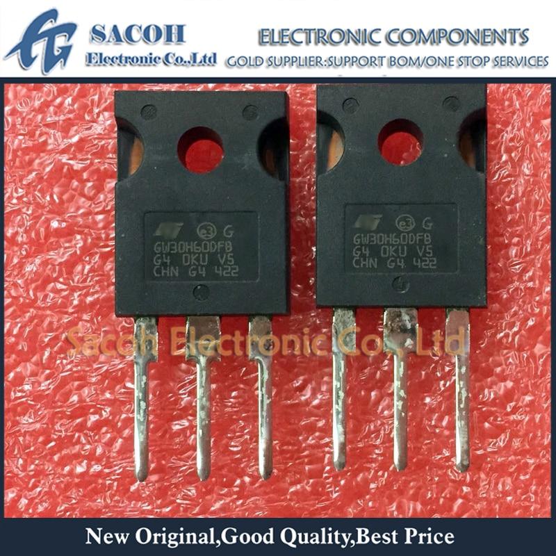 Frete grátis 10 pçs stgw30h60dfb gw30h60dfb ou stgw30h60dlfb gw30h60dlfb para-247 30a 600v transistor igbt de alta velocidade