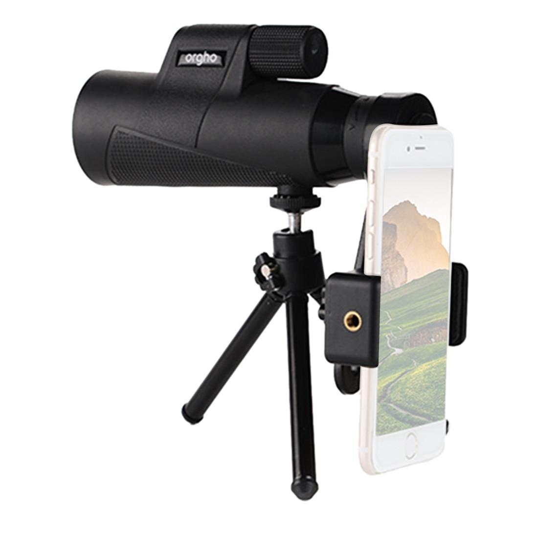 10x50 alta potência hd monocular telescópio com clipe de telefone e tripé de alumínio para observação de aves viajar mjz12