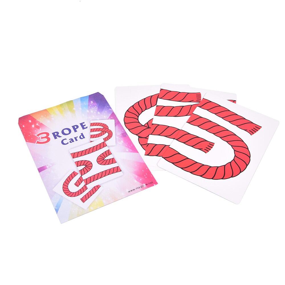 Truco de tarjeta de 3 CUERDAS (JUMBO), trucos de magia ilusión, magia de escenario, tarjeta de truco, magia, papel divertido, juguetes mágicos para niños