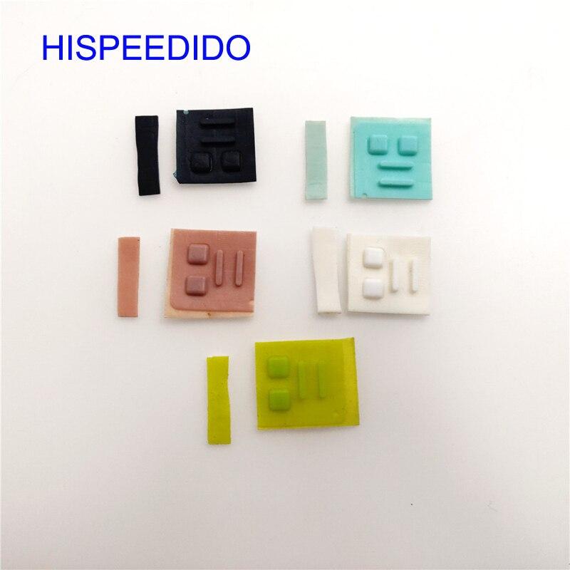 HISPEEDIDO 10 uds/lote cubierta de pie de tornillo para DS Lite para consola de juegos NDSL, cubierta de pies de tornillo, almohadilla de goma