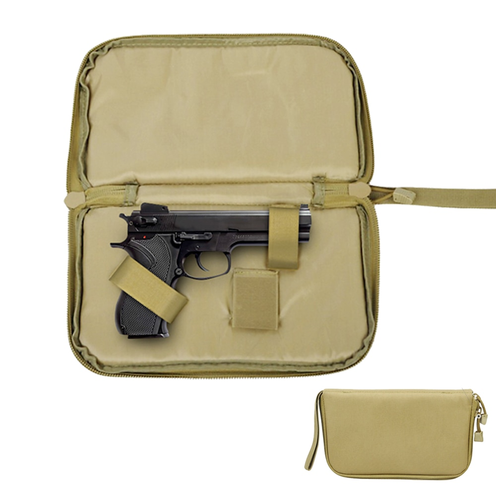 Tactical Pistol Carry Bag Portable Military Handgun Holster Pouch Durable Hand Gun Soft Case Portable Gun Magazine Pouch