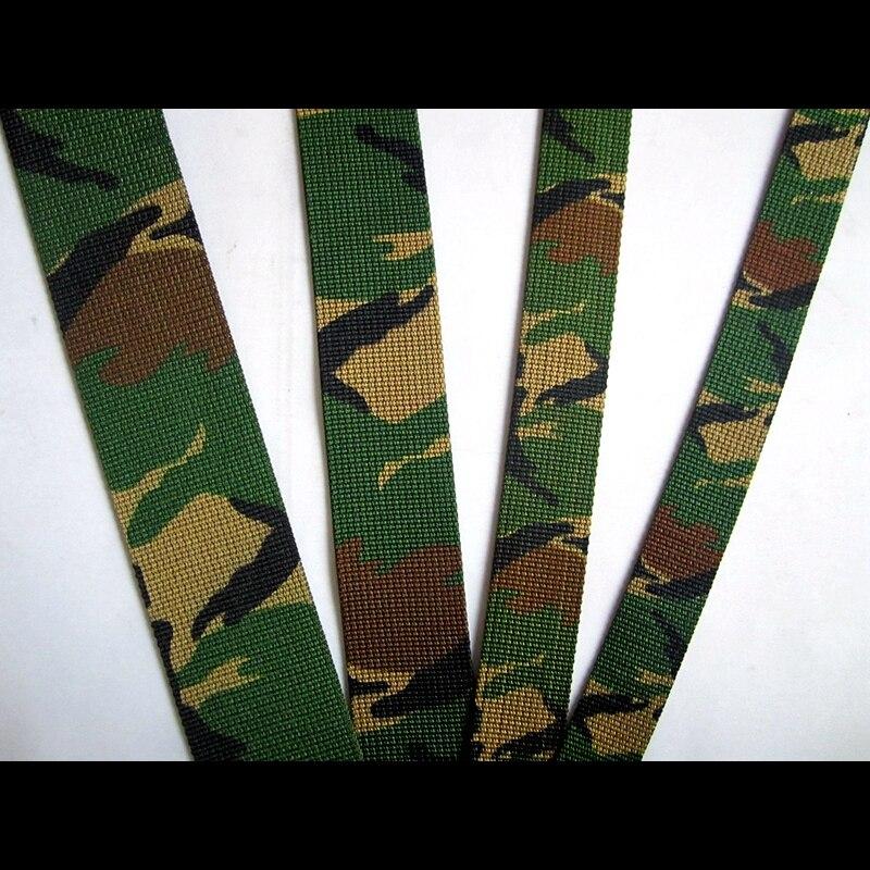 5 metro/lote 50 38 29 25mm mm mm mm Largura Camuflagem Verde Militar Cinto de Fita De Nylon Do Webbing Para O Saco correia Acessório Navio Livre