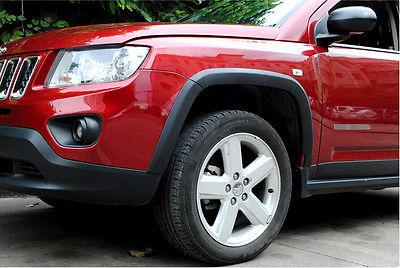 Guardabarros negro de alta calidad, arco de rueda, 10 Uds. Para JEEP COMPASS 2011 - 2015