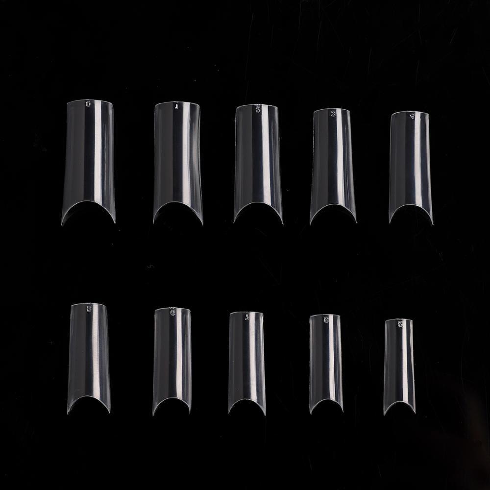 10PACKS 500 X Clear Natural French Acrylic nail art C tips False Nail Tips Fake Nail Salon Nails A0021X