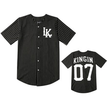2019 Hot Selled Men T-shirts Fashion Streetwear Hip Hop Baseball Jersey Striped Shirt Men Clothing Tyga Last Kings Clothes Black