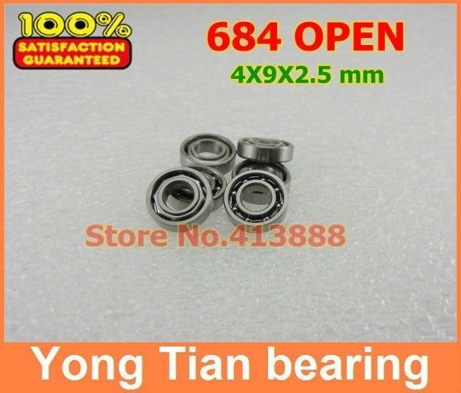 Alta qualidade 684a ax4 mr618/4 684 aberto 684k 4x9x2. 5 mm aberto métrico em miniatura rolamento de esferas profundo do sulco ABEC-5