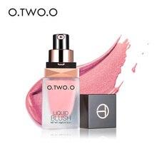 O.TWO.O maquillage visage liquide fard à joues élégant soyeux Paleta De Blush 6 couleurs longue durée naturel joue Blush maquillage du visage