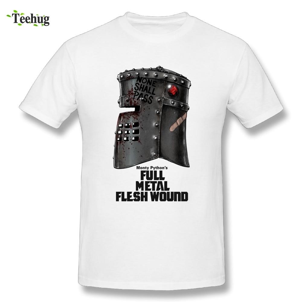 2018 Men's Black Knight Tis But A Scratch Monty Python T Shirt Brand Novelty Streetwear Tees
